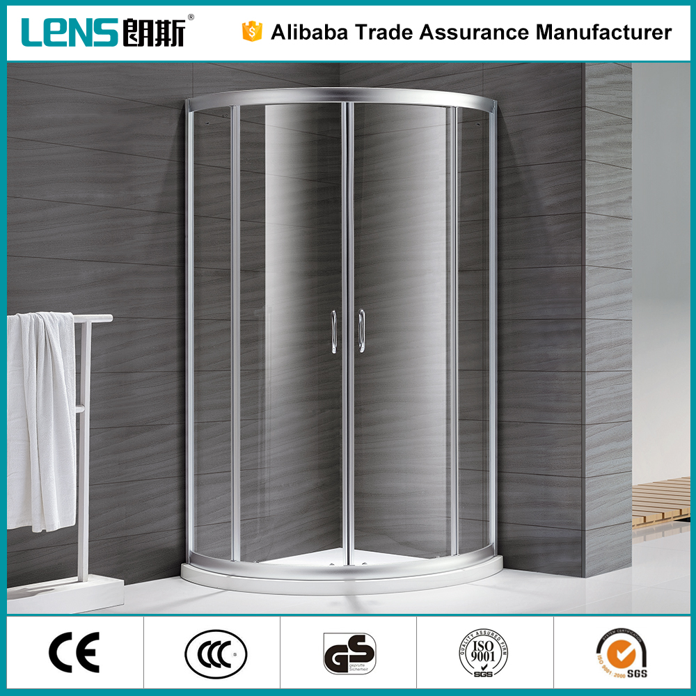 Finely Finished Modern Cheap Discount 6063 Aluminium Alloy Deluxe Sector round shower door parts