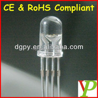 Factory Cheap Price 5mm 4feet rgb led light emitting diodes Common Anode Common Cathode ( CE & RoHS Compliant )