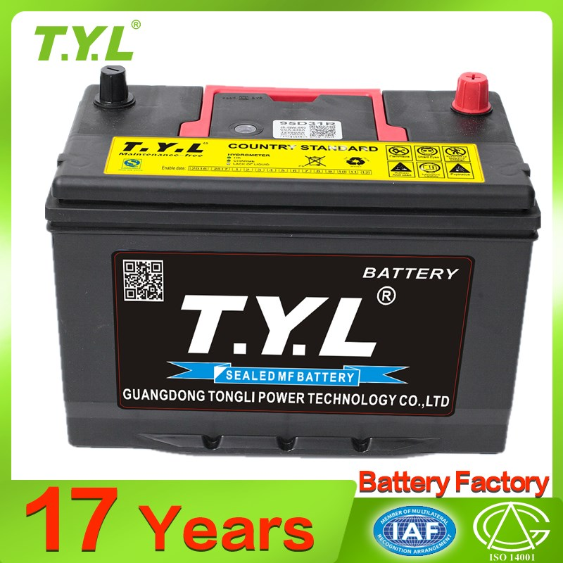 China manufacturer car battery 95d31 for sale