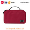 Red Unique Built-In Wall Hook 3Foldeda Travel Toiletry Bag Water-Resistant Storage Wash Bag