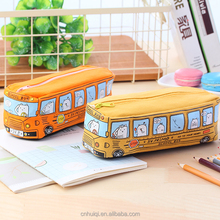 bus model pencil bag pencil case school pouch canvas pencil bag