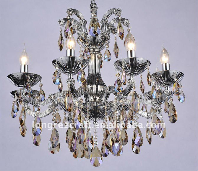 Wholesale beautiful LED light source crystal candle chandelier