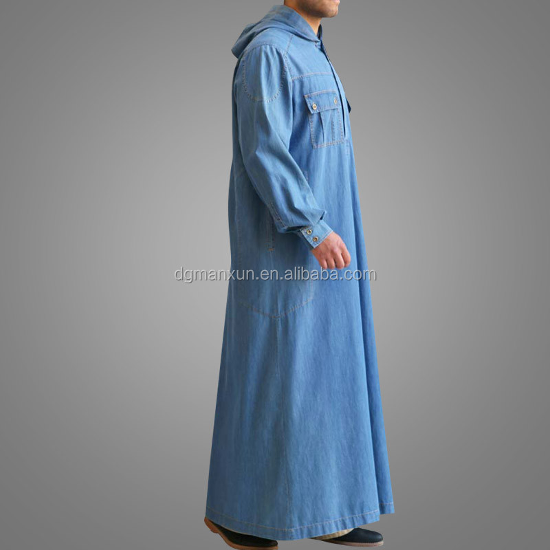 New Arrival Gentle Muslim Men Thobe Latest Design Islamic Clothing Jubah High Quality Muslimah Abaya