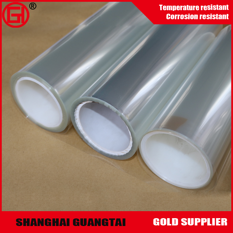High Glossy transparent Customized pet release film for PVC wallpaper