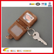 mini leather creative fashionable photo frame with metal inserts handmade womens gift