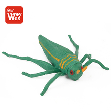 Newest style non-toxic stretchable tpr soft rubber grasshopper insect toy for sale