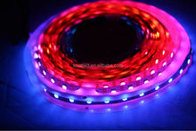 micro led strip APA102, 60LEDs/m with 60pcs WS2801 IC built-in the 5050 SMD RGB LED Chip;DC5V, White PCB