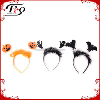 orange pumpkin, black bat and devil party headband