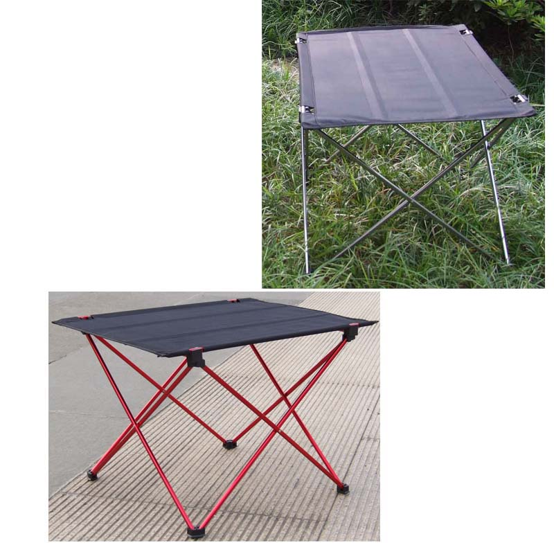 Black/Grey Ultra-light Portable Foldable Aluminium Alloy Holder Table Outdoor Camping Picnic Folding Tables Desk