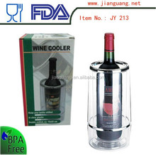 Hot selling double wall plastic wine coolers ice buckets