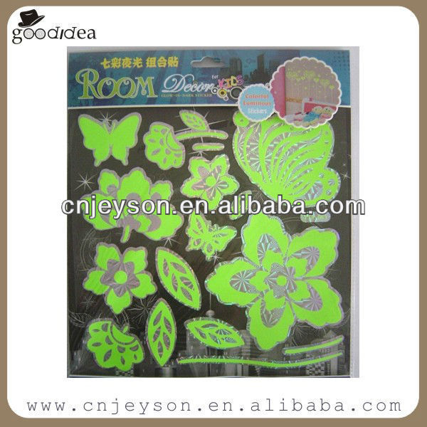 GD13002 High quality laser glow in dark sticker