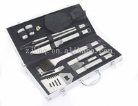 BBQ TOOL SET OF 10 PCS WITH ALUMINIUM CASE