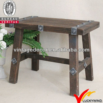 Luckywind small industrial wooden bench