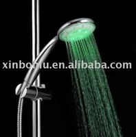 bathroom body massage shower jets led shower head chrome