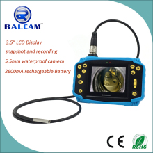 "3.5"" monitor Industrial Pipe Car Video Inspection Endoscope Camera with rechargeable battery"