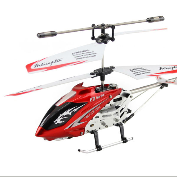 Mini DFD F1 Series F101 3 inch RC Helicopter Radio Remote Control 3.5CH LED Alloy Gyro