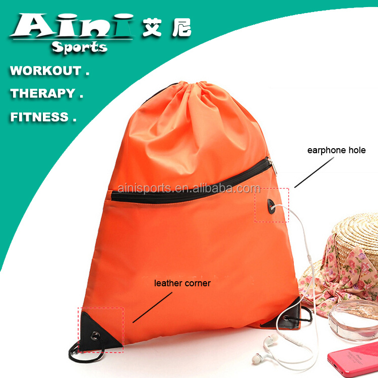 OEM 2016 Drawstring gift bag,nylon polyester drawstring bag,backpack for gym sack
