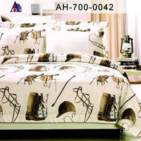 Korean Printed Cotton Bed Sheet Set