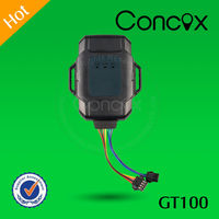 Super Hot Sale Intelligent Small Dimension GT100 Ciclomotore GPS GPRS Tracker with Long Standby time by Concox Manufacture