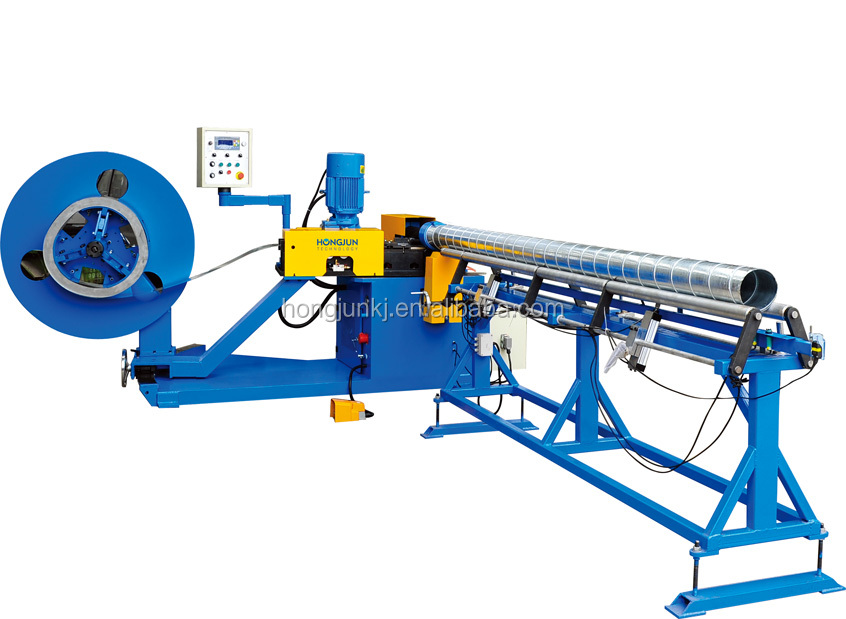 HJTF1500F Spiral tubeformer machine which can making pipe and cutting pipe