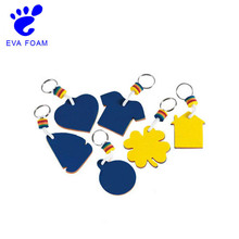 China cheap custom bulk eva foam floating keychains/key rings