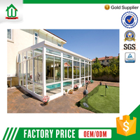 Waterproof luxury exterior aluminum used sunroom