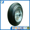 Qingdao manufacturer heavy duty solid wheels 200mm rubber tyre