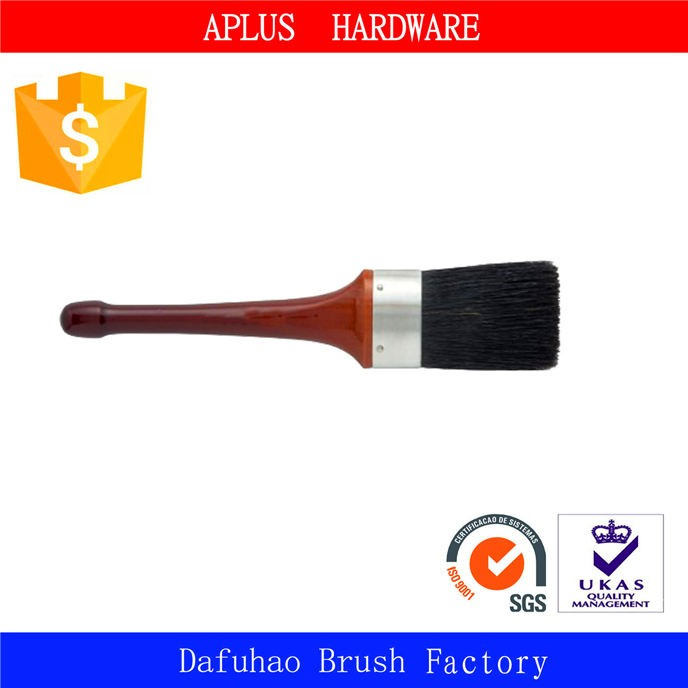 hand tools low price paint brush extra long handle pure bristle wooden brush