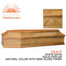 TD-E17 Recommended direct sale high quality European wood coffin