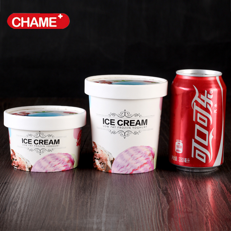 Frozen Yogurt plastic lids / Ice Cream paper containers