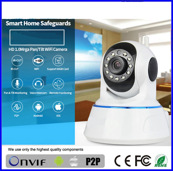 Two Way Audio P2P Support mobile viewing wifi easyn cmos wireless ip camera fs-613a-m136 BS-IP24
