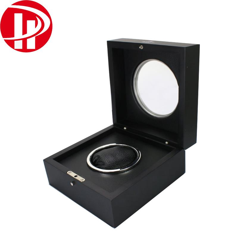 Manufacturer luxury specialty <strong>Black</strong> PU Leather Wooden gift box wholesale custom Luxury watch packing boxes