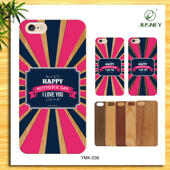 Custom Designs Engraving Logo With Natural Cherry Wood For iPhone 5c Case