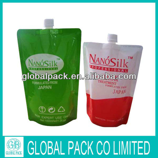 Spout Flexible With Stand Up Custom Printed Plastic Packaging Bag