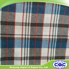 wholesale recycle cotton yarn dyed plaid fabric
