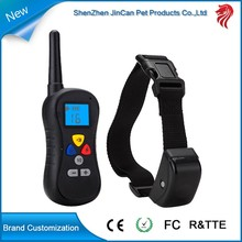Personalized remote meters dog electronic shock training collar