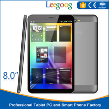 8 inch IPS 1280*800 tablet computers 4000 mAh recyclable polymer-Li Battery android tablet newest phablet product
