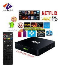 android tv box dual tuner M9S wholesale android smart tv set top box install google play store android tv box M9S
