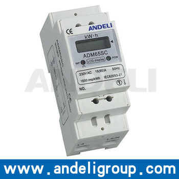 ADM65SC Single Phase DIN-RAIL Watt-hour Meter
