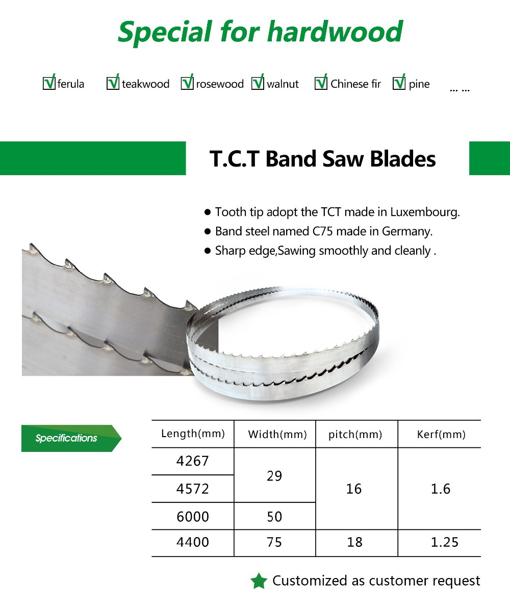 High Quality TCT Band Saw Blade - Woodworking For Cutting Hard Wood