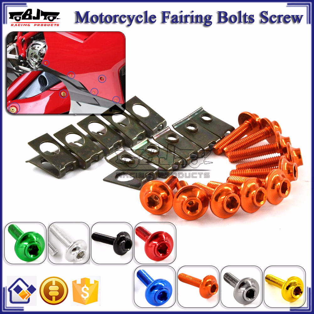 BJ-Screws-2004 Anodized M6 Allen Key Motorcycle Fairing Bolts