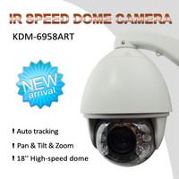Full HD 1080P outdoor Onvif 20x zoom 180m IR Outdoor Auto Tracking PTZ IP Camera