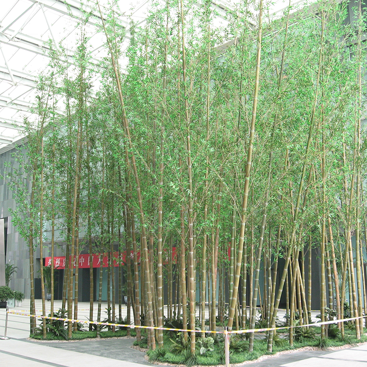 Environmental Landscape Wholesale Plastic Artificial Bamboo Tree, Outdoor Artificial Bamboo
