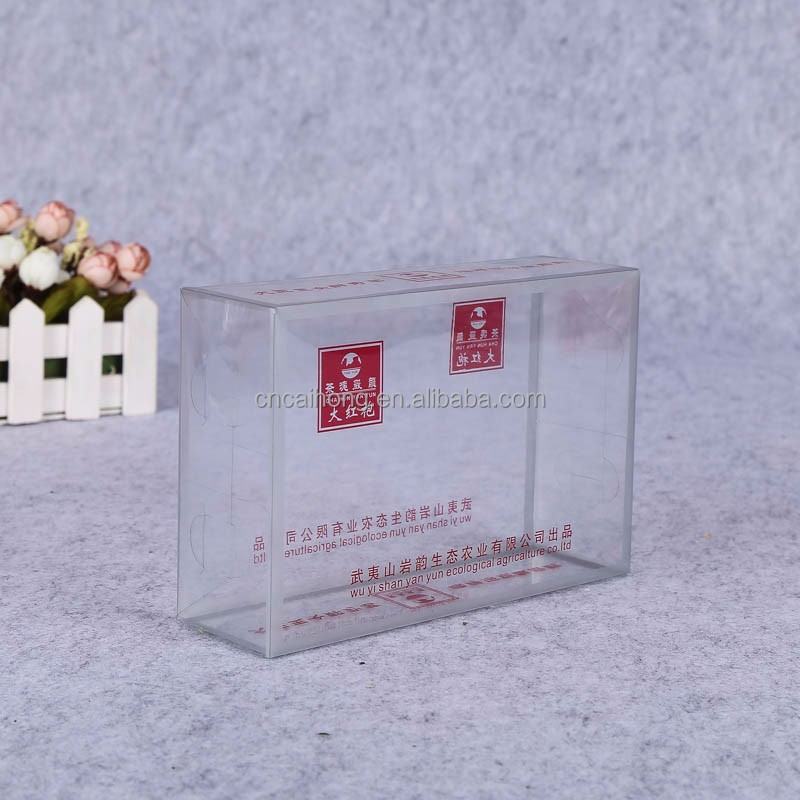 Wholesale promotional plastic clear PVC folding gift box packing