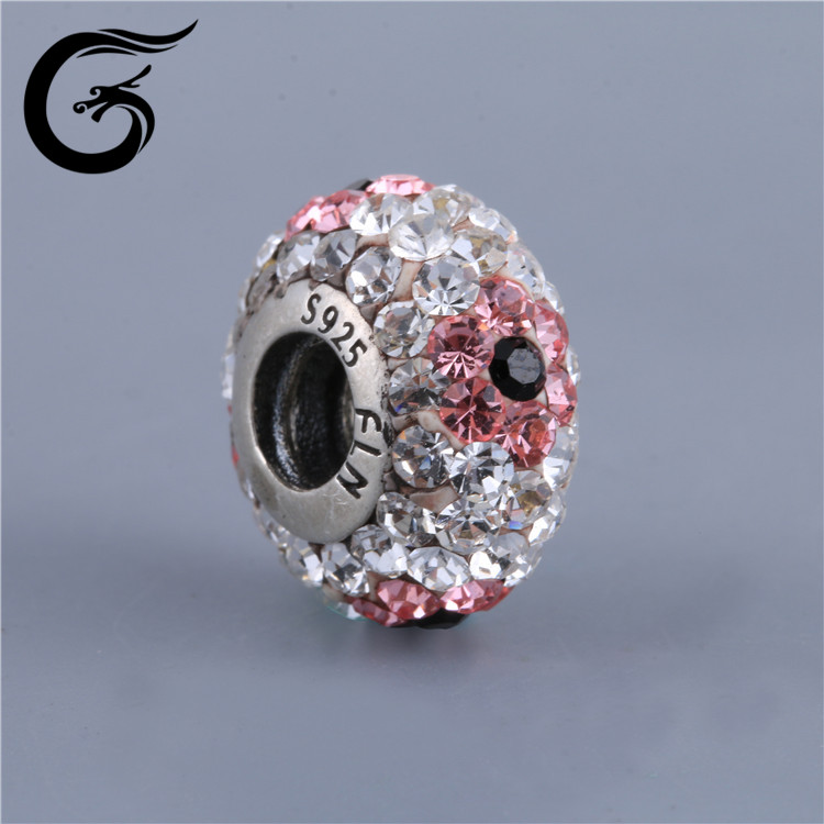 E Guolong Fashion Crystal Ball Jewelry Findings Crystal Shamballa Beads DIY Beads