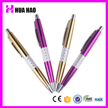 office & school supplies promotional click metal ballpoint pen with metal clip