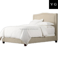 Top selling bed, elegant leather velvet king size bed, Reasonable price modern white bed on sale