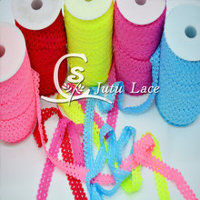 New Hot Sales!! 3-4 inch frilly elastic ties for Baby Headbands - - Lace Baby Headbands