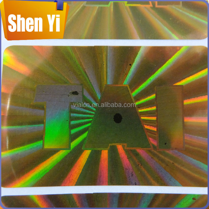 High quality security hologram anti radiation sticker