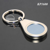Round Shaped Metal Frame Picture Keyrings